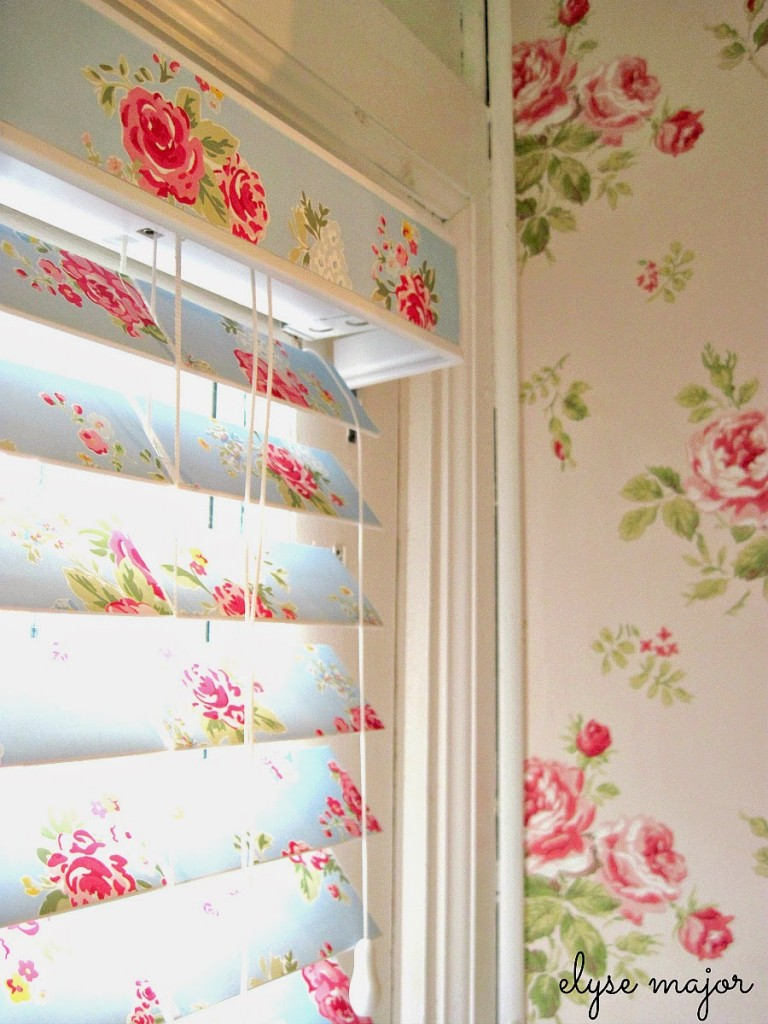 wallpapered blinds